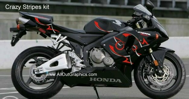 Custom motorcycle graphics decals