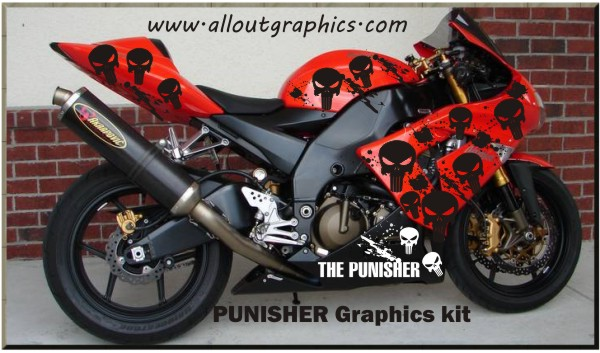 Custom Motorcycle Graphics Decals - Motorcycle decal graphics